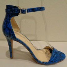 Jessica Simpson Size 8 M JULLES Poolside Blue Heels Sandals New Womens S... - $98.01