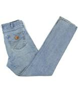 CARHARTT B18 Mens Sz 34x36 Medium Wash Straight Tapered Leg Blue Jeans - $18.80