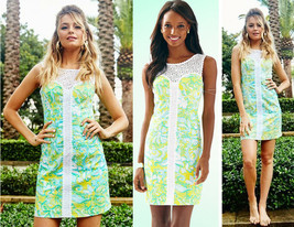 $238 Lilly Pulitzer Sofia Dandelion Yellow Beach Gypsies Lace Shift Dres... - $157.50