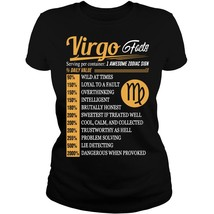 Virgo Tshirt Virgo Facts Virgo Tshirt For Men Women - $20.95+