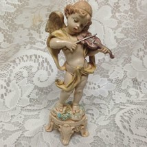 Vintage, Fontanini Cherub with Violin 6in x 3.5in - $14.20