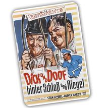 Laurel & Hardy Dick Und Doof German Movie Poster Reproduction 8x12 Aluminum Sign - $15.79