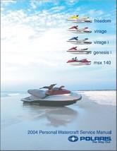 2004 Polaris Freedom, Virage, Virage i, Genesis i, MSX 140 PWC Service Manual CD - $12.00