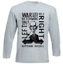 BERTRAND RUSSELL WAR QUOTE - NEW COTTON GREY TSHIRT - $23.54
