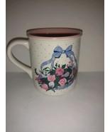 Vintage 1990 Potpourri Press Collectible Coffee Mug Mayfair Roses Basket... - $22.76