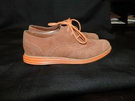 Cole Haan Ladies SZ 6.5 Lunargrand Brown Suede Leather Wingtip Oxford Sh... - $29.69