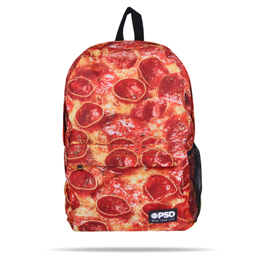 793c5c159d5cf PSD Pizza Pie Cheesy Pepperoni Laptop Urban School Book Bag Backpack  21810008