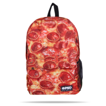 PSD Pizza Pie Cheesy Pepperoni Laptop Urban School Book Bag Backpack 218... - $29.99