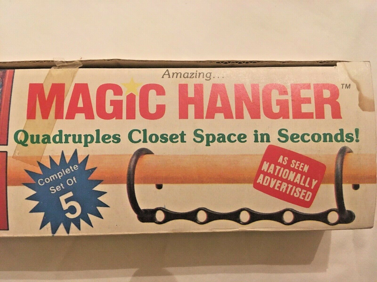 MAGIC HANGER as seen on TV - Set of 5 - Quadruples Closet Space - New Old Stock - $12.86