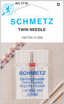 Schmetz Twin Machine Needle-Size 2.0/80 1/Pkg - $7.25
