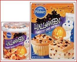 Pillsbury Halloween Funfetti Cake Mix (1) and Vanilla Funfetti Frosting ... - $11.87