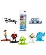 Disney Pixar Nano Metalfigs Mini Diecast Metal Figure Toy Set 5 Pack (Pa... - $12.19