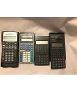 Lot of 4 Texas Instruments & Casio Scientific Calculators  Assorted - $9.88