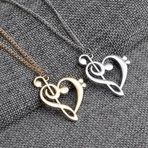 New Miss Zoe Minimalist Simple Fashion Hollow Heart Shaped Musical Note Pendant  - $2.99