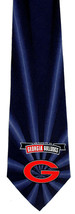 Georgia Bulldogs Men's Silk Necktie University College Logo Burst Blue Neck Tie  - $31.68