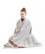 Wool Wrap or Wool Blanket, Meditation Shawl for Men and Women, Unique Gift - $59.99