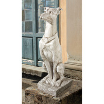 "30"" Whippet Graceful Canine Italian Greyhound Art Deco Guard Dog Sculpture - $113.33"