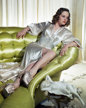 Alexis Smith 16x20 Poster sexy leggy pose reclining in gown on couch - $19.99