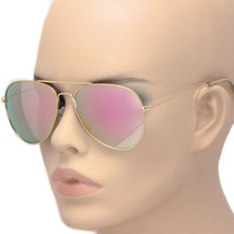 New Rose Gold Aviator Unisex Sunglasses Iridescent Lens Men Women Fashio... - $8.90