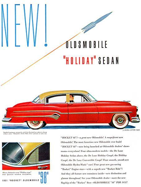 Primary image for 1951 Oldsmobile 98 Holiday Sedan - Promotional Advertising Poster