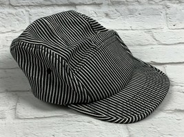 Navy Blue Striped Engineer's Train Railroad Cap Hat Adjustable by Altern... - $18.49