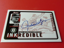 1999  ROLLIE  FINGERS  HAND  SIGNED  AUTOGRAPHED  INKREDIBLE  RETRO  UPP... - $19.99