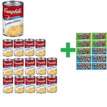 Campbell's Condensed Cream of Celery Soup 10.75 OZ (Pack of 15) + 10 Pac... - $84.00