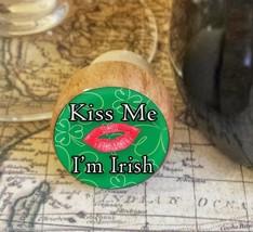 Wine Stopper, Kiss Me I'm Irish Handmade Wood Bottle Stopper, St. Patric... - $8.86
