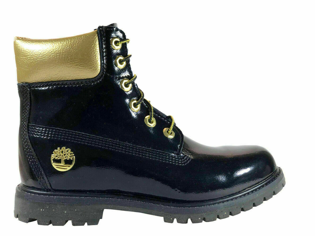 "TIMBERLAND WOMENS 6"" LIMITED MIDNIGHT COUNTDOWN WATERPROOF BLACK BOOTS USA A1U6H - $91.99"