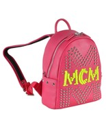 New MCM $2,795 LOVE POTION Small Pink Leather Studded Stark Backpack Purse - $658.35
