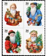 2001 34c Santa Claus, Christmas, Pane Block of 4 Scott 3537-40 Mint F/VF NH - $2.97