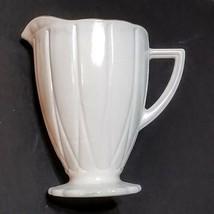 Hazel Atlas Newport Platonite White Depression Glass Creamer Pitcher Gol... - $11.88