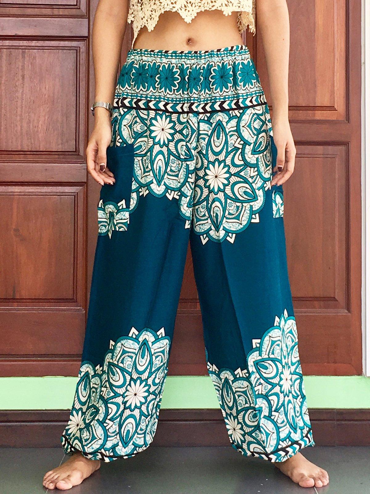 cbb7a98dfb08 Turquoise mens yoga pants 8. Turquoise mens yoga pants 8. Plus Size Mens  Casual Turquoise lightweight summer trousers womens Harem ...