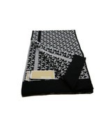 Michael Kors MK Logo Knit Scarf Gray Black Ladies Womens One Size NWT - $837,36 MXN