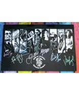 Sons Of Anarchy 9x Cast Signed Photo COA Charlie Hunnan Katey Sagal Ron ... - $600.00