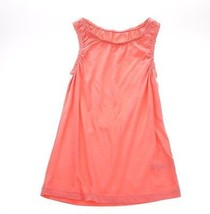 Juicy Couture Peach Orange Pheasant Tank Top Summer Dress Girls Cotton 5 6 - $7.91