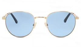Jimmy Choo Henri J5G/KU Unisex Studded Metal Sunglasses Gold/Blue NEW 53mm - $107.86