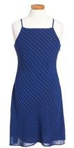 Ralph Lauren Polo Girls Plaid Sleeveless Chiffon Dress, Royal/Black, Siz... - $36.62