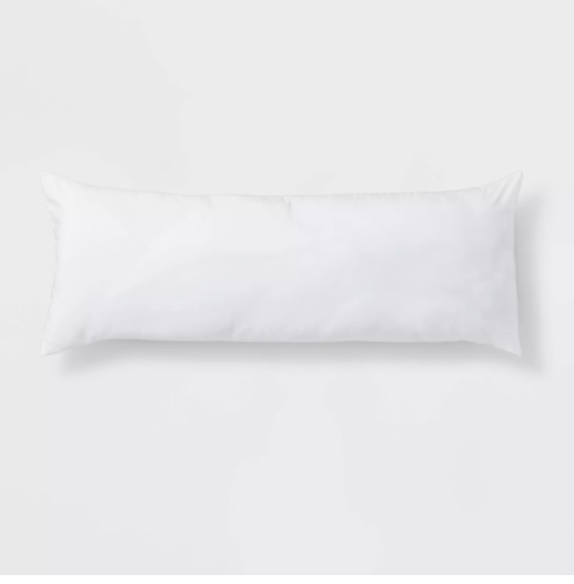 Body Pillow White - Room Essentials 52''(L), 20'' (W) 7'' thick (WHOLE PILLOW )