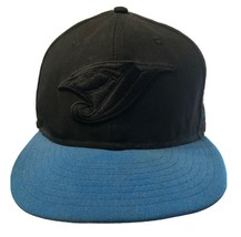 Black Blue New Era Toronto Blue Jays Fitted Baseball Hat 7 3/8 Black Log... - $19.59