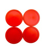 """4 Red Air Hockey Pucks Replacement 2.5"""" Discs Accessories Equipment Games - $4.99"""