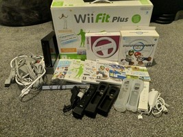 Nintendo Wii Bundle - Inc 6 Games/Console/Fitness Plus Board/Accessories - $50.08
