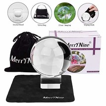 Photograph Crystal Ball with Stand and Pouch, K9 Crystal Suncatchers Bal... - $9.86
