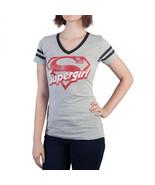 Supergirl Logo Varsity V-Neck T-Shirt - $22.97