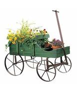 Amish Wagon Decorative Indoor/Outdoor Garden Backyard Planter, Green - $26.92