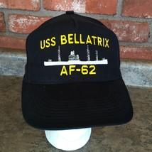 USS BELLATRIX AF-62 US NAVY Black Military Trucker Hat Cap Snapback Adju... - $19.78