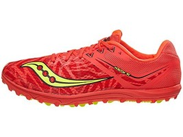 Saucony Women's Havok XC Spike Vizi Red/Citron 10.5 B US B M - $56.16