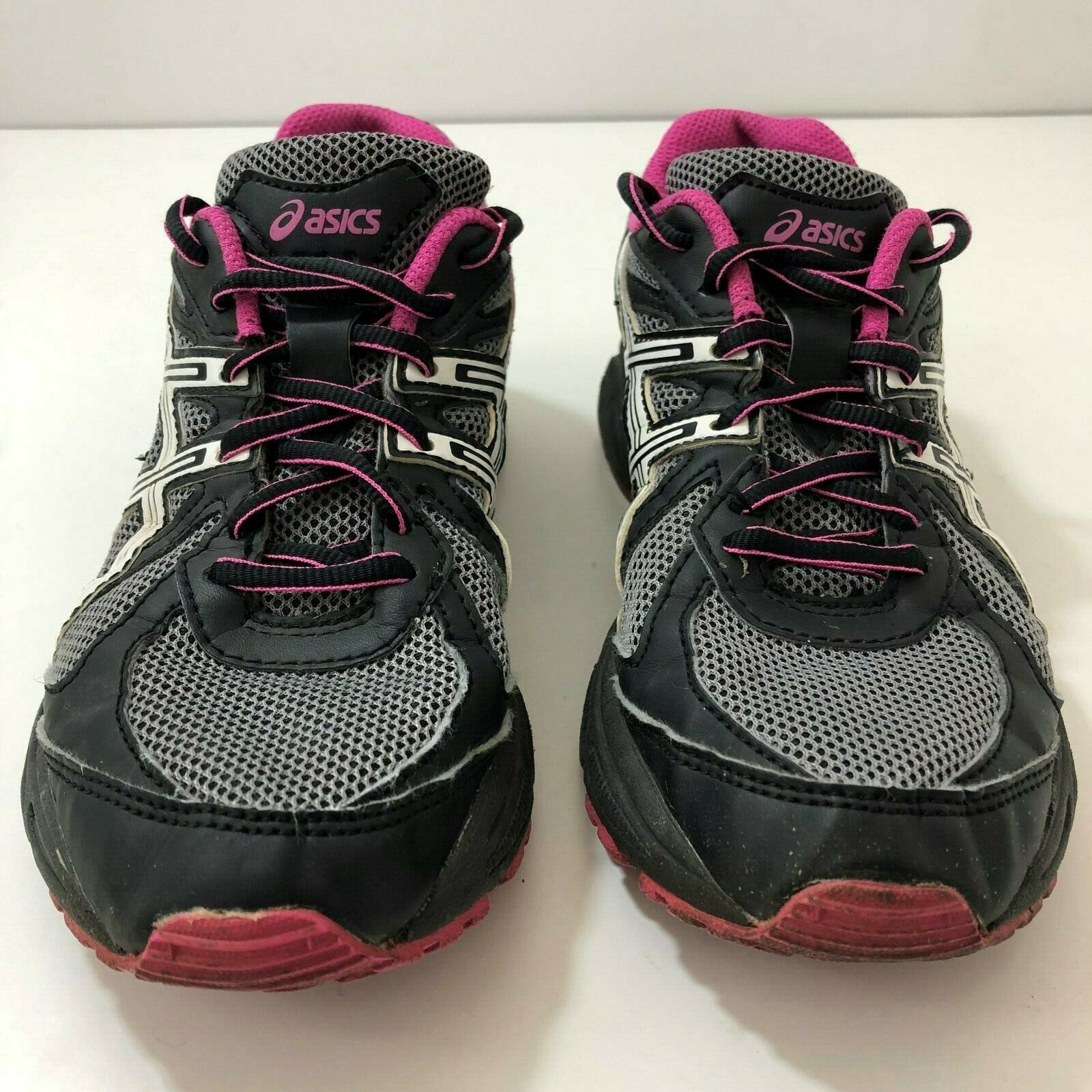 ASICS GLS T28AQ Running Shoes Sneakers Black Gray Purple Womens US Size 6.5