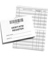 25 Debit Registers ATM Mini Checkbook Registers with Balance Column  - $17.99