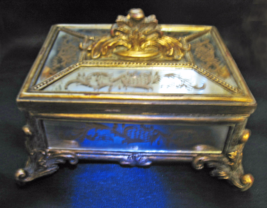 Haunted LARGE CHEST 100X MAGNIFYING MAGICK & SPIRITS MIRRORED Cassia4 WITCH - $288.77